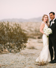 Desert wedding portrait
