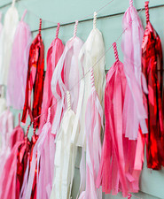 pink and red tassels