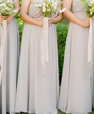 Pale grey bridesmaid dresses