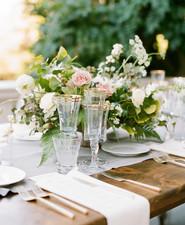 Elegant modern tablescape