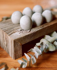 Cement easter eggs