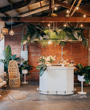 Chic tiki themed birthday party