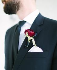 Black grooms suit