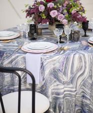 Marbled wedding linen