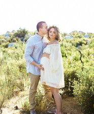 rustic outdoor maternity photos