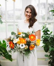 Orange poppy bouquet