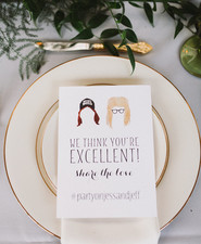 Whimsical wedding menu