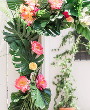 tropical floral arch