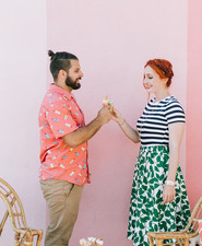 Ice cream engagement shoot