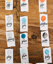 moon place cards