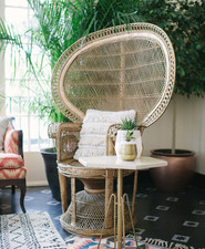 Cane chair for baby shower
