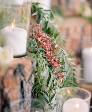 wedding candle display
