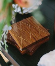 Crate and Barrel mid-century coasters