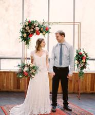 Modern wedding arch