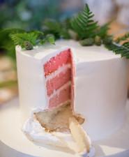 pink gender reveal cake