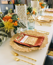 Mid century modern home wedding