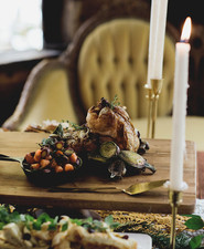 Rustic Thanksgiving wedding in the forest