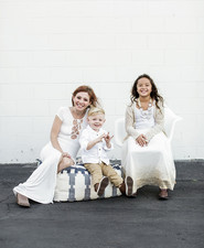 All white family photos