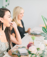 Modern bridal shower at a tea house