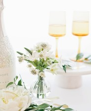 modern gold and white new years eve party