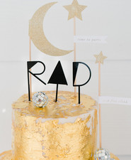 Gold leaf birthday cake