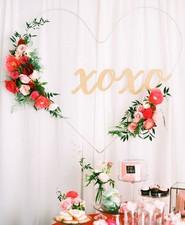 Floral Valentine's Day sign