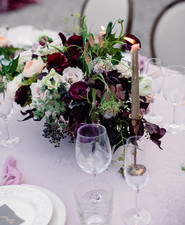 Moody wedding flowers