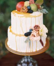 Carmel wedding cake