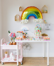 Rainbow girl's party