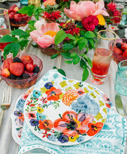 Bright Spring bridal shower brunch inspiration