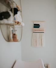 moody modern girl's nursery