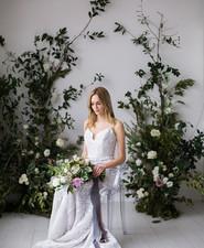 Floral bridal portrait