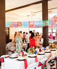 Mexican inspired reception decor