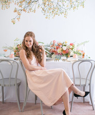 blush dress for bridal shower