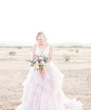 Mia Solano pink wedding dress