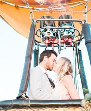 Hot air balloon wedding inspiration