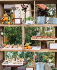 Rustic food table