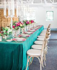 Emerald tablescape
