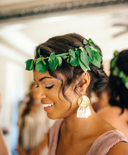 Greenery floral crown