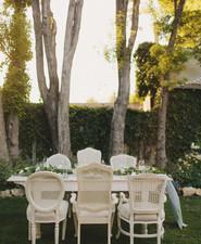 Elegant vintage tablescape
