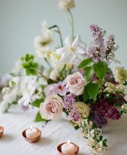 Lilac spring floral arrangement