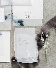 Celestial inspired wedding invitations