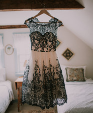 black lace wedding dress