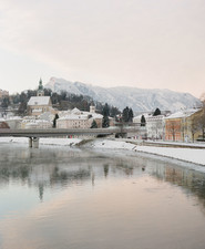Salzburg Austria in Winter on 100 Layer Cake