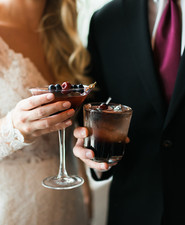 Moody blush and black winter wedding inspiration