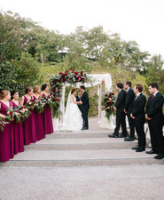 modern fall garden wedding