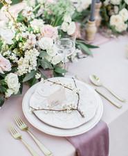 Romantic pastel spring blossom estate wedding