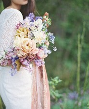 Pastel summer bridal bouquet