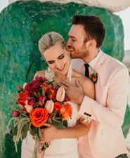 True Romance inspired Las Vegas elopement at Seven Magic Mountains