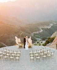 Ochre and mauve sunset elegance at Malibu Rocky Oaks